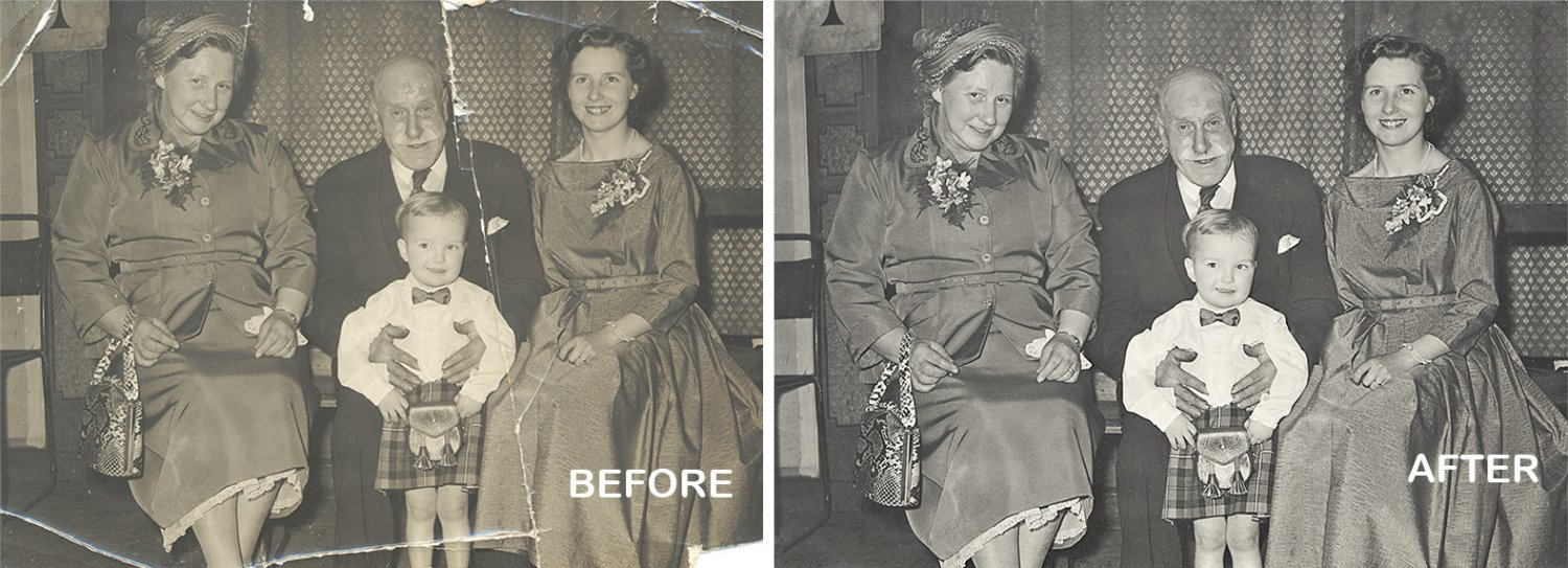 Photo Restoration fix cracked photos