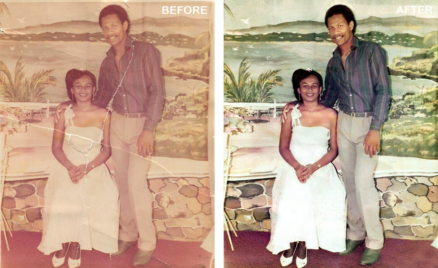Photo Restoration enhance colour